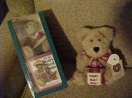 "BOYD'S BEARS (2) - Beary Best Mom 5"" Plush Bear and Book - Merci Bearcoo... - $12.50"