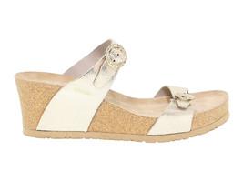 Sandalo con tacco MEPHISTO LIDIA VENISE in pelle laminata platino - Scar... - $109.16