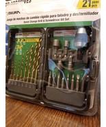 Miura 21 Piece Quick change Drill & Screwdriver bit set with case - New - $8.86