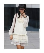 Women's Baby Doll Dress Ladies Fashion Pleated Front Bubble  - $34.99