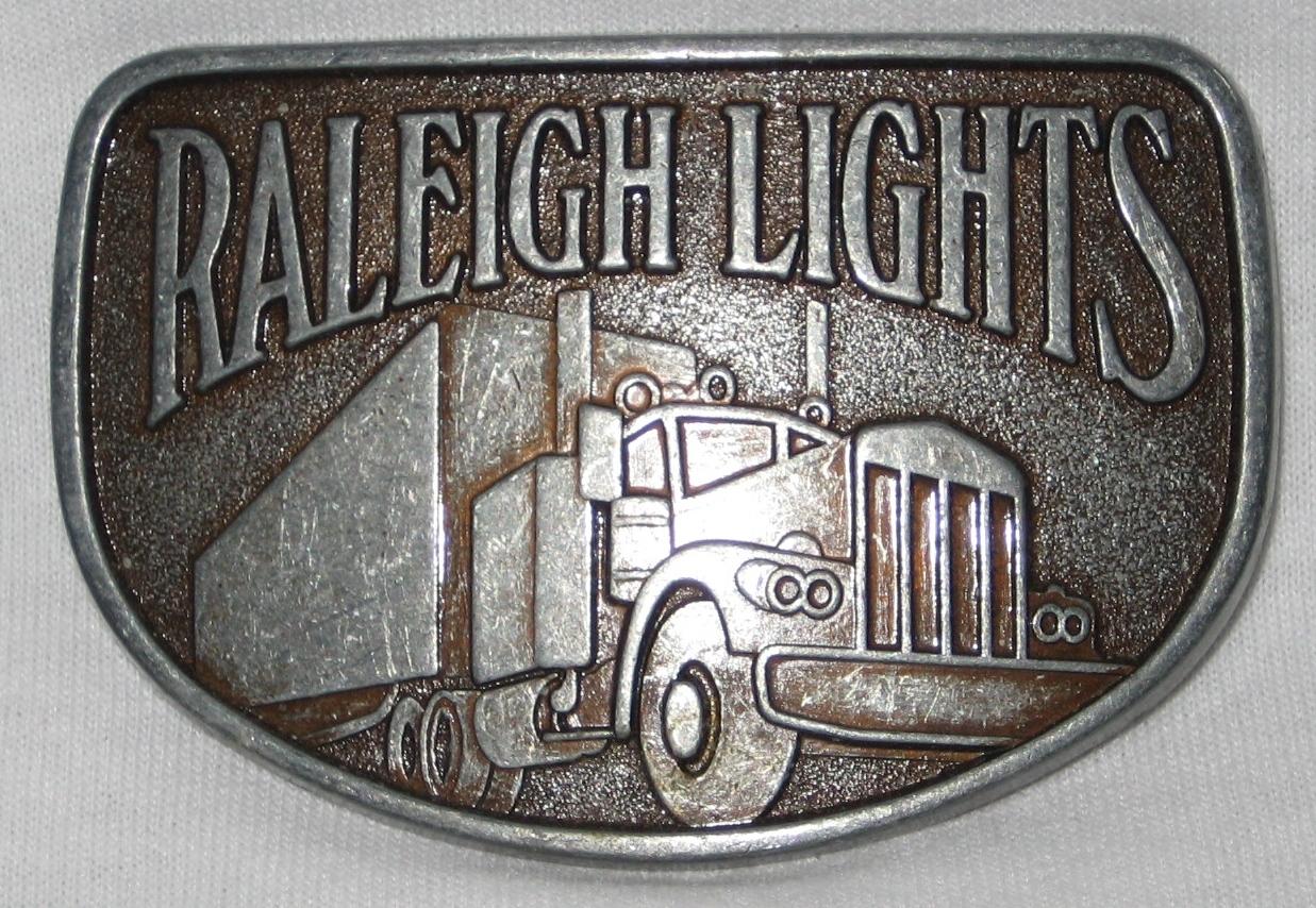 Vintage Raleigh Lights Big Rig Trucker Belt Buckle