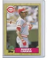 1987 Topps Baseball Barry Larkin Rookie / RC # 648 Cincinnati Reds - $1.00