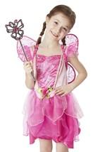 Melissa & Doug Flower Fairy Role Play Costume Set (3 pcs) - Pink Dress, ... - $18.80
