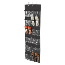 New Honey-Can-Do Over The Door Clear Shoe Organizer/Storage Rack Black S... - $23.27
