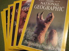 Original Vintage 1998 Lot of 6 NATIONAL GEOGRAPHIC Magazines - $14.43