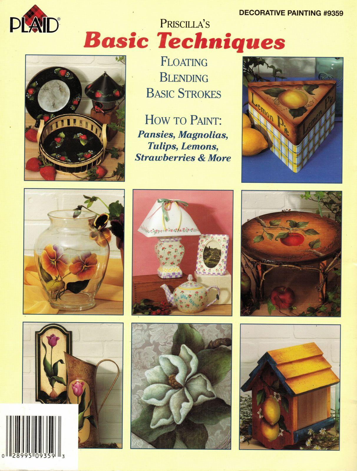 Tole Decorative Painting Priscilla Hauser Floating Blending Techniques Book - $13.99