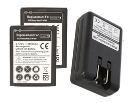 2 replacement battery and Wall Charger for Samsung Galaxy Note GT-N7000 ... - $19.99