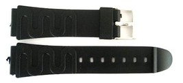 TIMEX 19MM BLACK RUBBER DIVER SPORT WATCH BAND STRAP - $8.66
