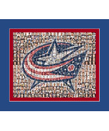 Columbus BlueJackets Mosaic Print Art Designed Using Over 75 players.   - $40.00+