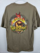 Git R Done Larry The Cable Guy T-Shirt Deer Hunting T-Shirt Men's Large - $12.19
