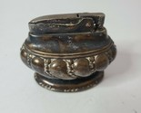 Vintage Ronson Crown Silver Plated Carved Table Top Cigarette Lighter 3 X 2.5""