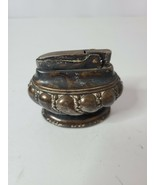 Vintage Ronson Crown Silver Plated Carved Table Top Cigarette Lighter 3 ... - $27.99
