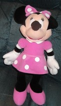 "Disney Minnie Mouse Pink Polka Dot Plush 15"" - $12.19"