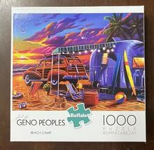 Buffalo 1000 Piece Puzzle - Art of Geno Peoples - Beach Camp - w/bonus P... - $11.43