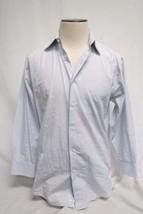 Joseph Abboud Mens Blue White Long Sleeve Button Shirt 32/33 100% Cotton - $31.57 CAD