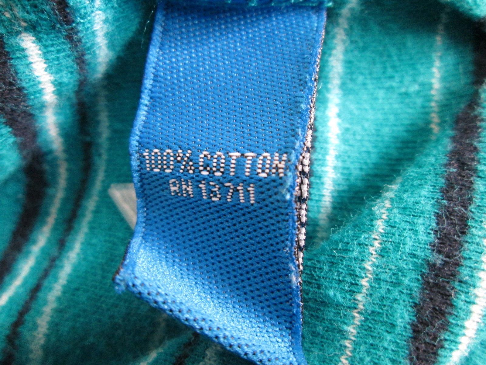 Women's blue striped  v-neck knit shirt Size S by Karen Scott  MKS253