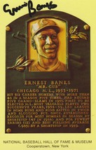Ernie Banks (d. 2015) Signed Autographed Hall of Fame Postcard - $29.99