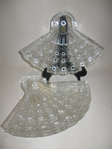 Anchor Hocking Daisy & Button Snack Plate Set Clear of Qty 4 Discontinue... - $14.95