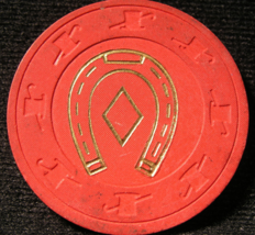 """Roulette Casino Chip From:  """"The Horseshoe Club"""" - (sku#4703) - $3.29"""