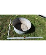 Home Treasure Antique Metal Washtub Rustic Primitive Silver Gray Wash Tu... - $47.49
