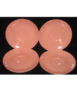 7 Vintage Boontonware Somerset Pink Saucers - $9.99