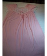 WOMEN PINK NIGHT GOWN WITH LACE S SMALL M MEDIUM - $13.50