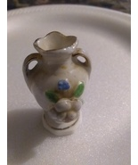 Miniature porcelain vase for curio cabinet shelf - $7.00