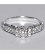 Natural Round Diamond Engagement VIntage Ring Women 14K White Gold 1.00 ... - $1,490.00