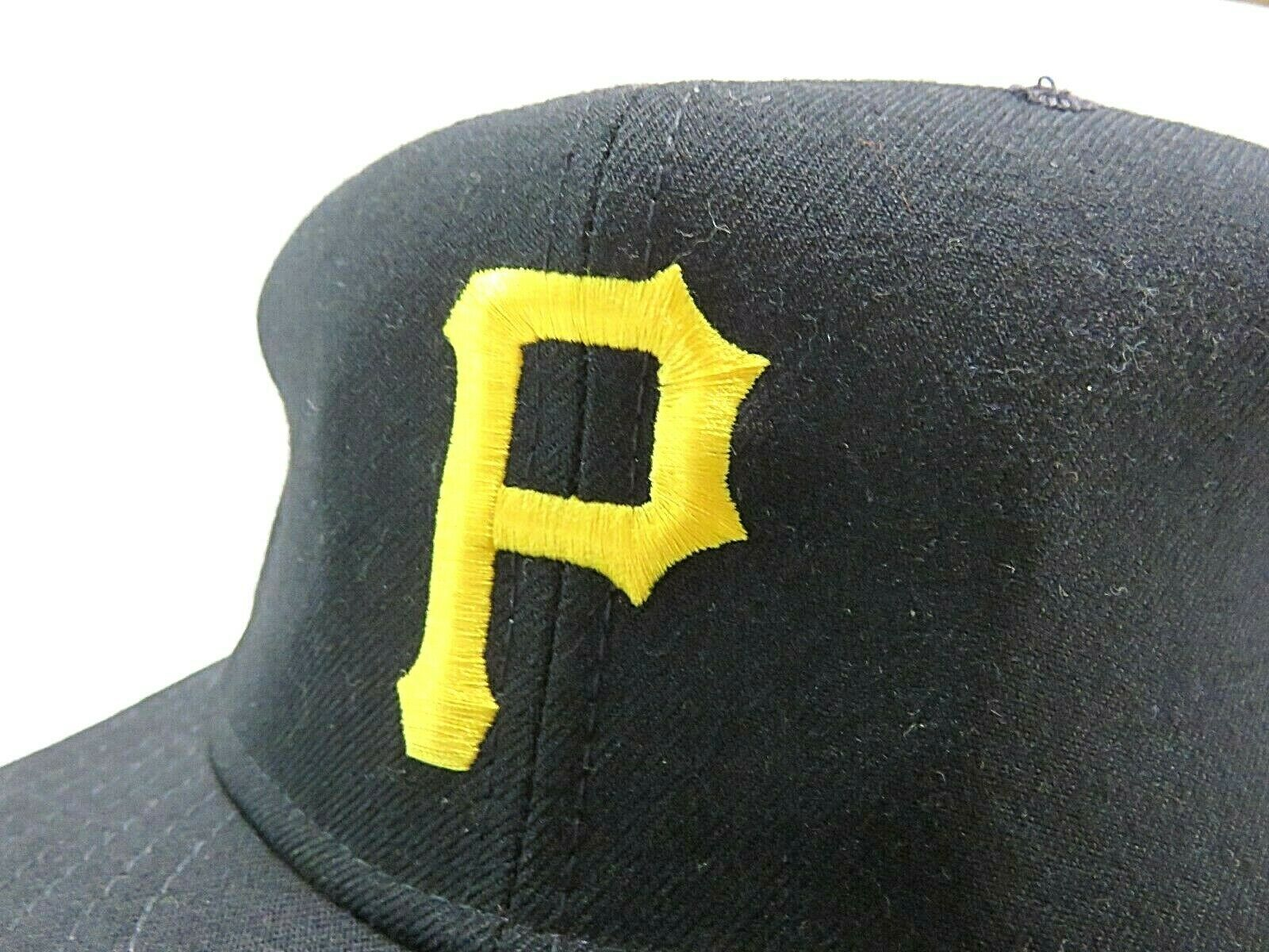 Vtg New Era Pittsburgh Pirates MLB Baseball Fitted Hat Size 7 3/4 Made in USA image 2