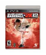 Major League Baseball 2K12 (Sony PlayStation 3, 2012) PS3 - $11.76