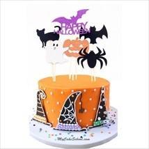 6pc Pumpkin Ghost Cat Spider Halloween Party Decorations Kids Halloween ... - £3.88 GBP