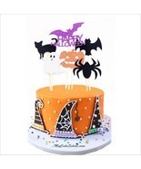 6pc Pumpkin Ghost Cat Spider Halloween Party Decorations Kids Halloween ... - £3.82 GBP