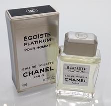 Vtg Mini Eau Toilette ✿ Chanel Egoiste Platinum ✿ Parfum Perfume 4ml. 0.13fl.oz - $18.99