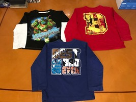 Lot of 3 Boys Kids Children's Place Ninja Turtles Long Sleeve Shirt Size... - $14.84