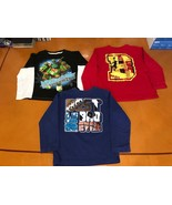 Lot of 3 Boys Kids Children's Place Ninja Turtles Long Sleeve Shirt Size... - $14.84