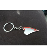 Lot of 7 silver hearts with with red crystal bling keychain fob  - $20.00