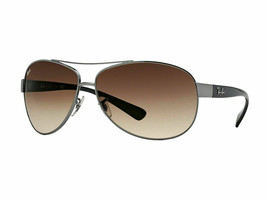 Ray Ban RB3386 004/13 Gunmetal/Black Frame Brown Gradient 63mm Lens - $166.32
