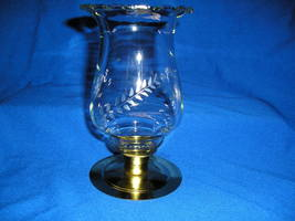Homco Clear Etched Wheat Tall PEG Votive Cup Candle Holders - $9.99