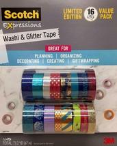 Scotch Travel Elephant Expressions Washi & Glitter Tape Limited Edn 16 R... - $19.79