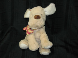 Maurices Tan Puppy Dog Plush Red Stripe Bone Collar 2012 Stuffed Animal ... - $27.71
