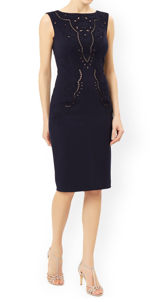 MONSOON Esta Ponte Navy Dress BNWT