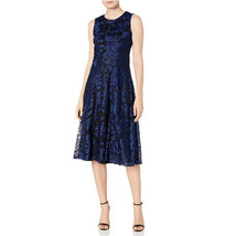 Tommy Hilfiger Women's Sleeveless Fit and Flare Dress, Marina Blue, 2 - $59.39