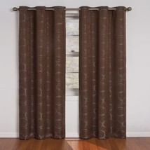Eclipse Meridian 63-Inch Blackout Window Curtain Panel, Chocolate - $23.30