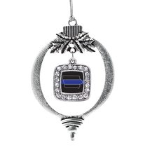 Inspired Silver Iowa Thin Blue Line Classic Holiday Ornament - €12,81 EUR