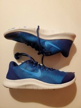 NIKE FLEX 2018 RN (GS) Shoes AH3438 400 Blue Boys' Youth 6Y - $54.45