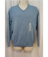 JA John Ashford Mens Sweater Sz M Big Sky Blue V Neck Cotton Casual Mens... - $25.26