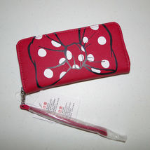Disney Parks Minnie Mouse Bow Lg Wallet/ Wristlet NWT Pink image 6