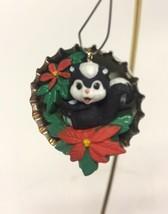 Hallmark Santa's Club Soda 1994 Skunk Sweet in Bottle Cap Ornament Miniature - $8.49