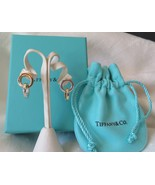 Tiffany & Co. Italy 18k Gold & Sterling Silver Interlocking Circle Earri... - $540.00