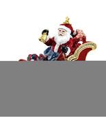 Non Metal Bejeweled Cruisin' Santa In Sleigh Trinket Box (Length=3.75) (... - $66.91